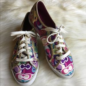 NWT Coach Poppy Dee Pop C multi print sneaker shoe